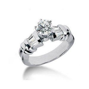 2 ct. engagement ring 6 prong set Diamonds ring go